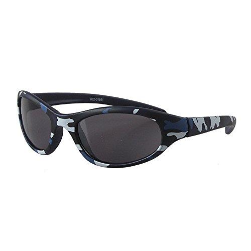 Duhongmei123 Mode Brillen Kinder Sonnenbrillen Camouflage Kids Sports Sonnenbrillen für Jungen Umwelt UV-Schutz Kinder PC Objektiv Sonnenbrillen Babys Sonnenbrillen Occhiali (Farbe : Blau)