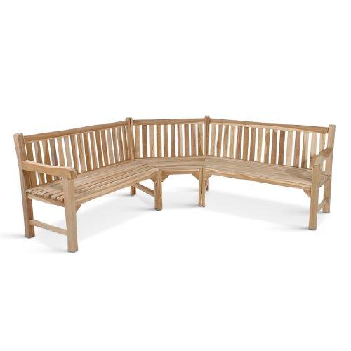 SAM® Teak-Holz Gartenbank, Eckbank, Sitzbank, 210 x 210 cm ...