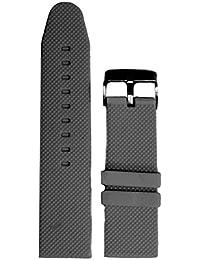 26mm color gris oscuro silicona Jelly Goma Hombres Reloj Banda correas wb1063d26jb