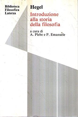 Introduzione alla storia della filosofia. Per i Licei e gli Ist. magistrali