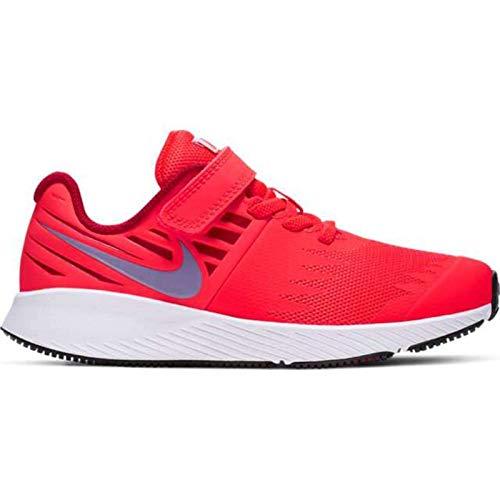 Nike Jungen Star Runner (PSV) Leichtathletikschuhe, Mehrfarbig (Bright Crimson/Blue Lagoon/Gym Red/White 000), 28 EU -