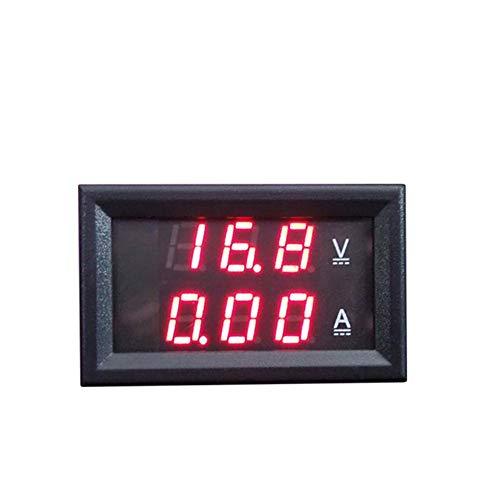 Hengzi DC100V 10A Digital Voltmeter Amperemeter Doppelanzeige Spannungsprüfer Meter Tester (Rot) 12v Ac Mini-usb