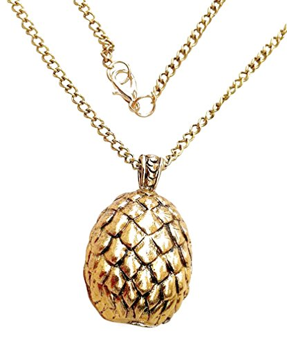 Game of Thrones Targaryen Dragon golden Egg pendant necklace costume jewelry - Games Egg Golden