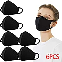 Reusable Dustproof Mask PM2.5 Windproof Foggy Haze Pollution Respirator Face Mouth Cover Washable (6 Pack)