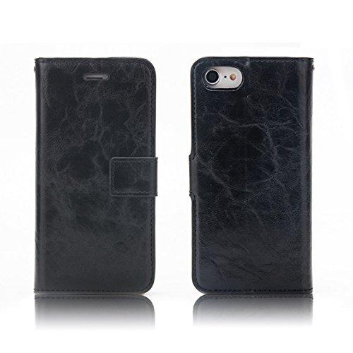 Xinan longjb per iPhone 7Crazy Horse Texture Flip Stand Portafoglio Case Cover Xinan longjb Black