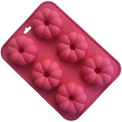 cherryard molde de calabaza Flor Silicona Pop moldes para hacer Candy, Chocolate, Cake y más, casa para hornear herramientas