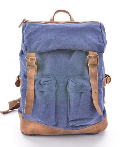 gootium-50515nv-vintage-canvas-backpack-rucksack-schoolbagsnavy