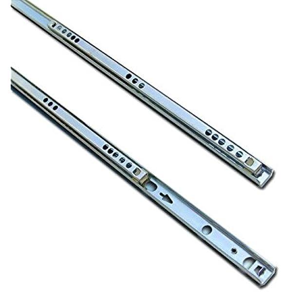 Metal drawer runners 17mm wide x