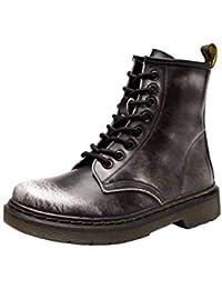separation shoes 28fed e01da Botas De Martin para Hombre Botas De Cuero para La Piel Botas De Trabajo  Retro CláSicas De Piel Forradas con Zapatos De Piel Calzado…