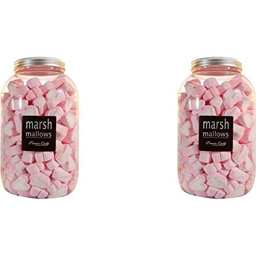 Mellow Herzen 200 Stk. in der Retrodose Schaumzuckerware Marsh-Mallows (2er Pack)