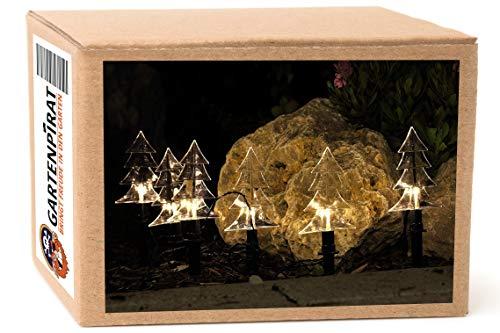 Garten-Leuchtstäbe Lichterkette mit 6 Tanne für Balkon Garten außen von Gartenpirat®