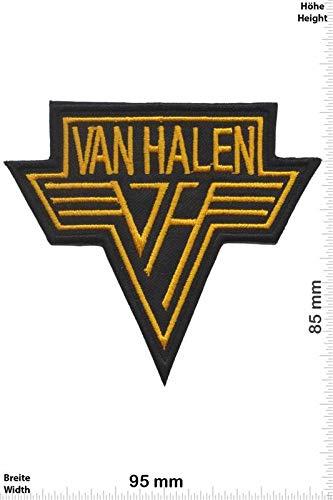 LipaLipaNa Van Halen - Gold -Hard-Rock-Band Aufnäher Besticktes Patch zum Aufbügeln Applique Souvenir Zubehör -