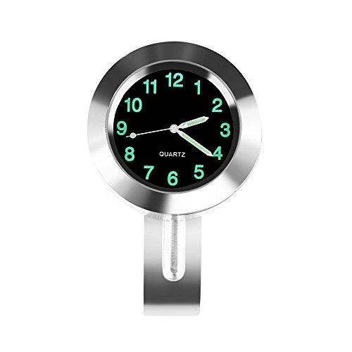 zantec 22–25mm Motorrad Lenker Uhr Wasserdicht Zifferblatt Lenkerhalterung Allgemeine Anwendung, silber