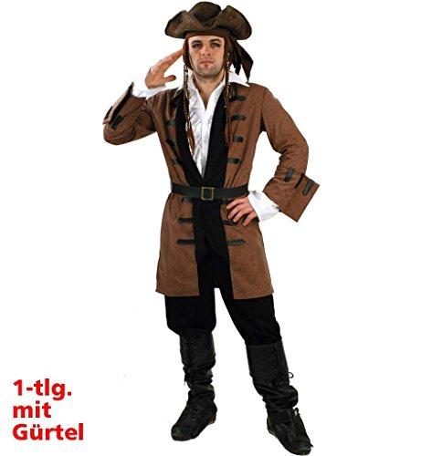 Jacke Captain Henry Karneval Pirat Seeräuber Freibeuter Seemann Seefahrer Kapitän Kostüm für Erwachsene (Large) (Seemann Jacke Kostüm)
