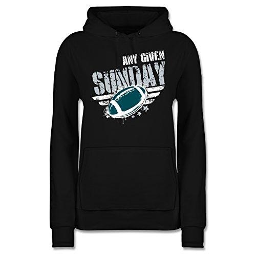 American Football - Any Given Sunday Football Philadelphia - XL - Schwarz - JH001F - Damen Hoodie