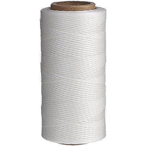 Candoran - Hilo de costura encerado, 260m, 1mm, aguja de cincel, para tapicería, zapatos y equipaje, juego de 4colores