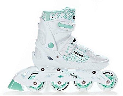Croxer Inline Skates Inliner Pearl White/Mint verstellbar (38-42(24,5cm-27cm))