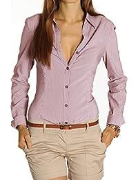 Bestyledberlin Damen Blusen, Hemden tailliert, Stretch Oberteil Tops t25z
