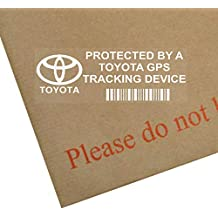 5 x TOYOTA GPS Tracking Device Security WINDOW Stickers 87x30mm-Avensis, Yaris,Corolla