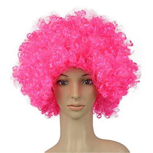 Rifuli® Perrücke Partei-Disco-lustige Afro-Clown-Haar-Fußball-Fan-Erwachsener Afro-Maskerade-Haar-Perücke Echthaar Perücke