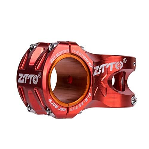 Antrygobin ZTTO MTB Mountain Lenker Ultralight Stem Bike CNC Legierung Fahrrad 35mm 31.8mm Red (Red Stem Mountain-bike)