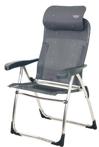 COMPaCT sTABIELO-chaise-fauteuil de camping - 4,6 kg, léger et chaises de jardin en aluminium - 7 positions-sTABIELO-système exclusif fauteuil avec repose-tête et dossier haut-coloris : anthracite-charge maximale : 110 kg-hOLLY sunshade contre supplément disponible avec hOLLY fÄCHERSCHIRMEN-hOLLY ® produits sTABIELO-innovation fabriqué en allemagne
