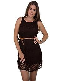 GIOVANI & RICCHI Damen Kleid Spitzenkleid One Size Einheits Groesse Mix Schwarz, Weiss, Grau, Blau, Türkis, Braun, Coral