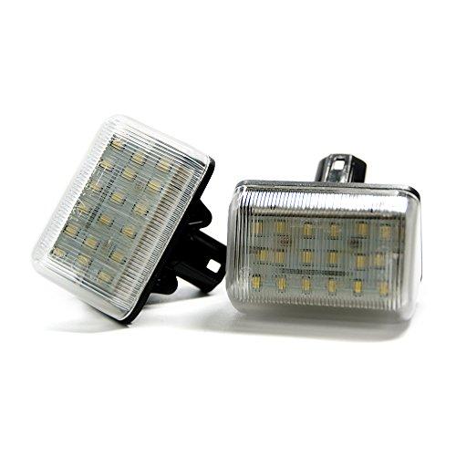 2 x LED Kennzeichenbeleuchtung Xenon Leuchte Kennzeichen Beleuchtung