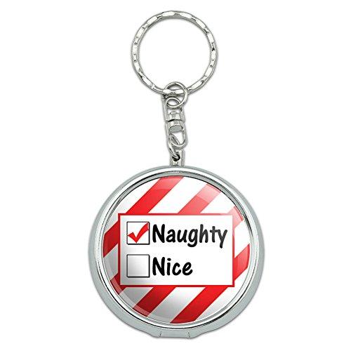 ße Pocket Geldbörse Aschenbecher Schlüsselanhänger Urlaub Weihnachten Halloween Naughty Not Nice Christmas Funny (Halloween Naughties)