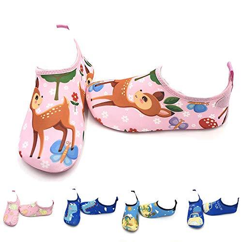 LYworld Wasserschuhe für Kinder Barfuß Schuhe Schwimmschuhe Badeschuhe Leicht Schwimmschuhe Schnell Wasserschuhe Surfschuhe Aqua Mädchen Kleinkind Beach Pool
