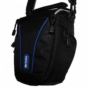weltatec Qualitäts-Set bestehend aus: Fototasche Kameratasche Tasche Umhängetasche kompatibel mit Canon Eos 550D 600D 650D 700D inklusive exklusivem Mikrofasertuch 18 x 15cm
