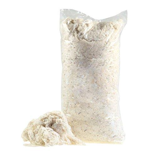 maDDma  500g Füllmaterial Füllung Baumwolle naturbelassen für Kissen, Puppen, Sitzsäcke