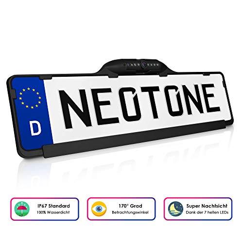 NEOTONE NTK-190Z universelle Rückfahrkamera in Kennzeichenhalterung | 170° Weitwinkelobjektiv | IP67 Feuchtigkeitsschutz | Höchste Qualität | -