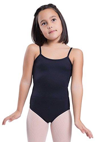 Happy Dance 1006 - Maillot de Ballet para niñas, Color Negro, Talla 6
