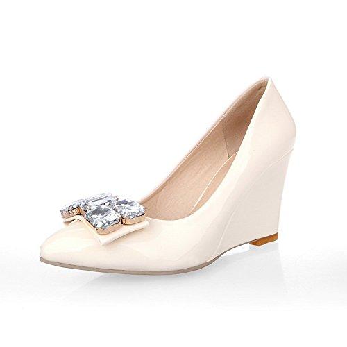 1to9 Girls Pull-on Verre Banquet Diamant Banquet Pompes En Caoutchouc-chaussures Abricot