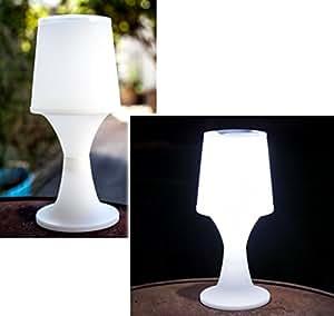 solar tischlampe mit led beleuchtung 27 5 cm h he led solarlampe au enbeleuchtung f r garten. Black Bedroom Furniture Sets. Home Design Ideas
