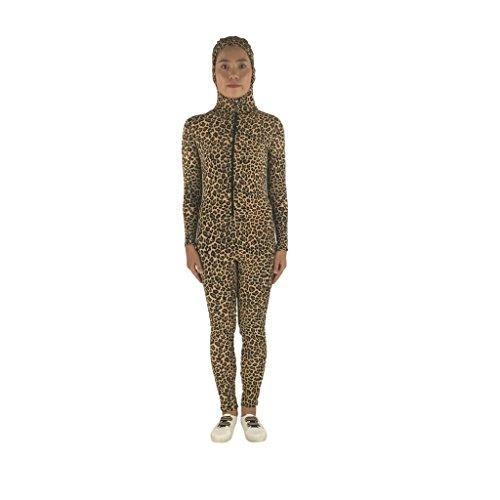 Volle Spandex Ganzkörperanzug Kostüm - MagiDeal Spandex Ganzkörperanzug Anzug Suit Kostüm Leopard Muster Catsuit - XL