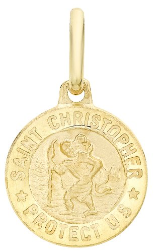 carissima-gold-9ct-yellow-gold-st-christopher-medal-pendant