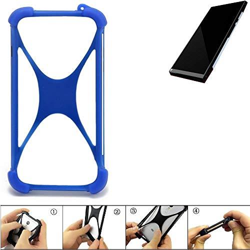 K-S-Trade Bumper für Turing Robotic Industries Turing Phone Silikon Schutz Hülle Handyhülle Silikoncase Softcase Cover Case Stoßschutz, blau (1x)