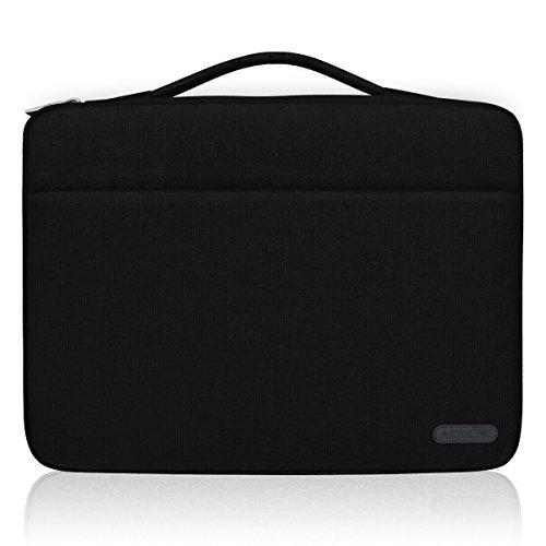 Arvok Custodia Protettiva Sleeve 15-15,6 Pollici, Sleeve per Laptop MacBook PRO, MacBook Air Resistente all'Acqua Tela Borsa Case per Notebook/HP / dell/Samsung / Toshiba/Acer / ASUS/Lenovo (Nero)