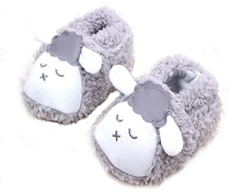 Chaussures Premiers Pas Molleton Chaussette Baby Toddler Souple Animal en Peluche