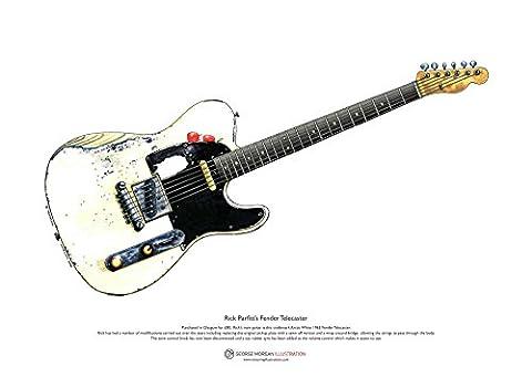 Rick Parfitt's Fender Telecaster KUNSTPOSTER A3-Format