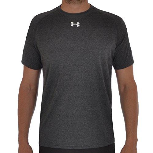 Under Armour Herren Heatgear T-Shirt, Herren Jungen, Dunkelgrau, L (Heatgear Loose-fit Tech-tees)