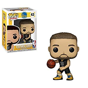 Funko Pop Stephen Curry Golden State Warriors camiseta negra (NBA 43) Funko Pop NBA