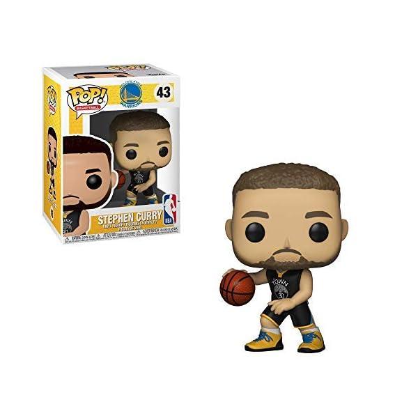 Funko Pop Stephen Curry Golden State Warriors camiseta negra (NBA 43) Funko Pop NBA