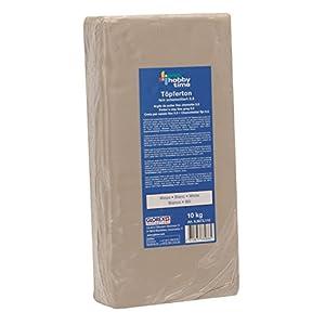 Glorex 6 8073 110 - Töpferton weiß 10 kg, feinschamottiert, Körnung 0,5 mm