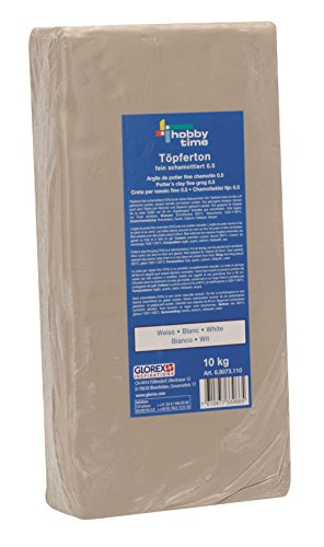 10 Töpferton weiß 10 kg, feinschamottiert, Körnung 0,5 mm ()