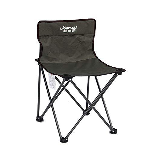 Dszgo Outdoor Freizeit Stuhl Medium Hocker Hängen Angeln Stuhl Strand Stuhl Zug Tragbare Klapptisch Und Stuhl Kompakt Und Licht Angeln Strand Mit Aufbewahrungstasche (Color : Brown)