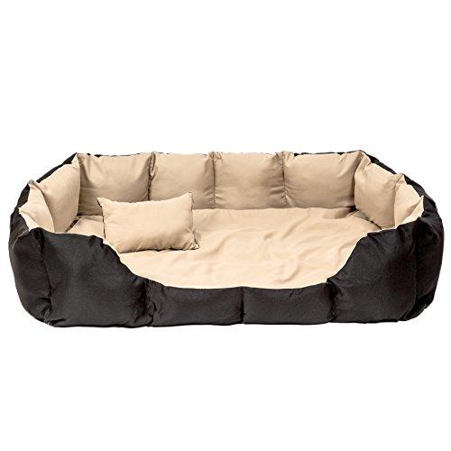 TecTake® XXL Hundebett Hundekissen Hundesofa Schlafbett schwarz/beige - 3