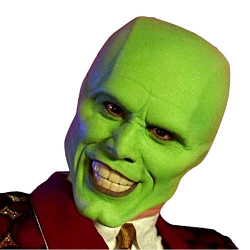 QQWE Halloween Horror Maske Menschlicher Kopf Latex Maske Cosplay Film Kostüm Prop,Green-OneSize